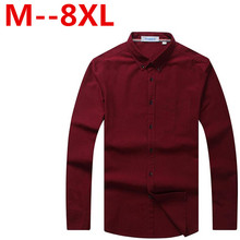 Plus size 9XL 8XL 7XL 6XL 5XL Brand Men Casual Shirt Solid Long Sleeve Collar Cotton Linen Nice Color Popular Designs Slim Fit