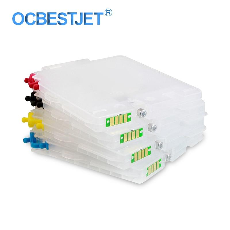 Cartouche dencre vide rechargeable avec puce ARC, 4 couleurs, pour Ricoh GC21 GX2500 GX2050N GX3000 GX3050 GX5000 gx50n GX7000