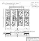 iron front door handles wrought iron and glass interior doors