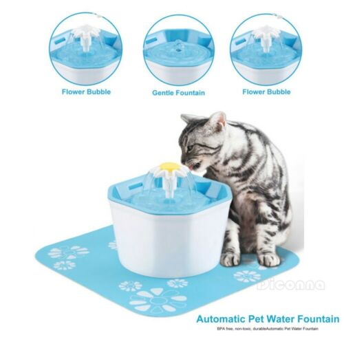 Automatic Cat Water Fountain For Pets Water Dispenser Large Spring Drinking Bowl Cat Automatic Feeder Drink Filter
