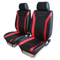Hot Sale PU Leather Style 2pcs Car Front Seat Covers Red Color Headrest Per Set Car