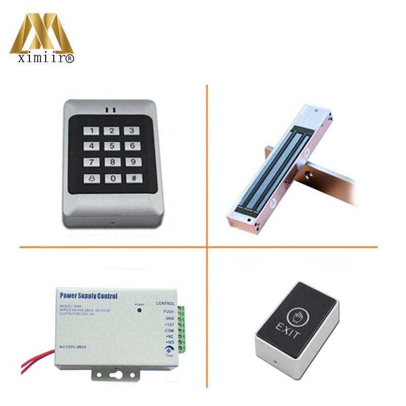 RFID Reader Deur Access Control Met Toetsenbord Enkele Deur Toegangscontrole Systeem Met Elektromagnetische Slot Voeding Standalone