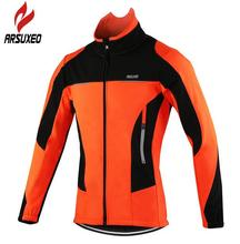 ARSUXEO Fleece Thermal Cycling Jackets Autumn Winter Warm Up Bicycle Clothing Windproof Waterproof Wind Coat MTB Bike Jerseys santic winter fleece thermal cycling jacket men road mountain bike jacket windproof bicycle wind coat chaqueta ropa ciclismo