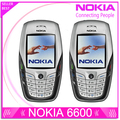 Восстановленное в Исходном NOKIA 6600 Мобильный Телефон Bluetooth Камера Разблокирована GSM в Трех Диапазонах Белый & один год гарантии