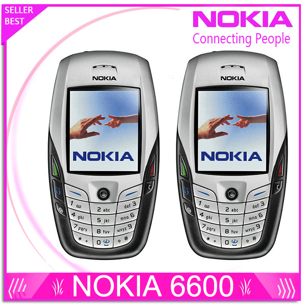 Refurbished Original NOKIA 6600 Mobile Phone Bluetooth Camera Unlocked GSM Triband White one year warranty
