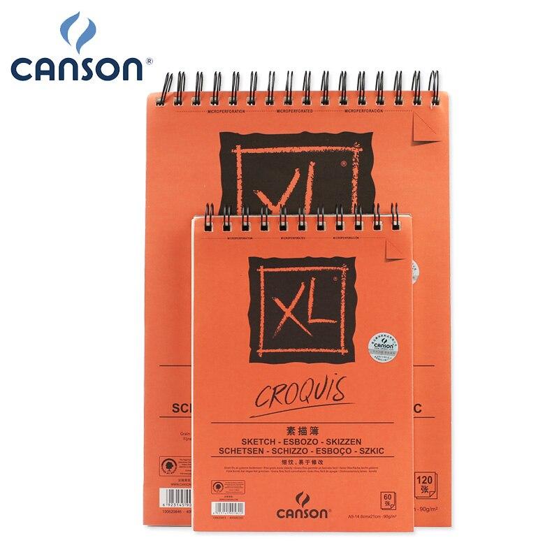 16 18k Canson クロッキー絵画紙水彩鉛筆パステルスケッチ描画レイアウトと混合技術 90 グラム 60 枚  グループ上の オフィス用品 & 学用品 からの 絵画紙 の中 1