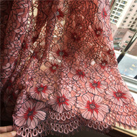3M/lot New Design texture eyelash cord lace fabric beautiful color mixed color dress fabric cloth openwork lace fabric