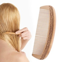 Fashion Natural Wide Tooth Peach Wood Comb Healthy No-static Massage Hair Wooden Comb Chinese Traditional Haircut Tool New(China)