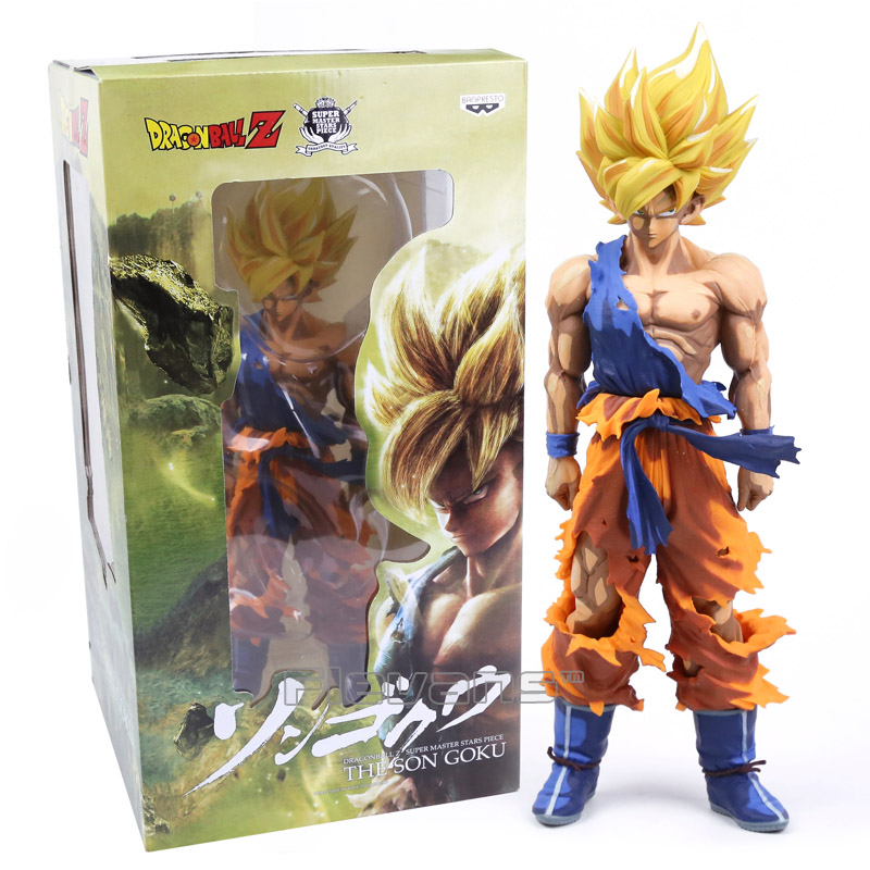 ФОТО Dragon Ball Z Super Master Stars Piece The Son Goku Super Big 36cm PVC Action Figure Collectible Model Toy 3 Types