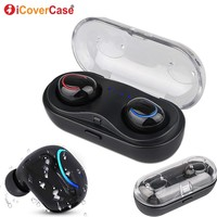 For Huawei Honor V20 V10 10 Lite 9 8 7 8C 8X 8A 7C Y7 Y9 Bluetooth Earphone With Charging Box Twins Wireless Headphone With Mic