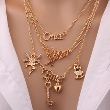 2017 Stylish Gallant Sparkling Owl Crystal Charming Flossy Necklaces & Pendants Necklace For Women стоимость