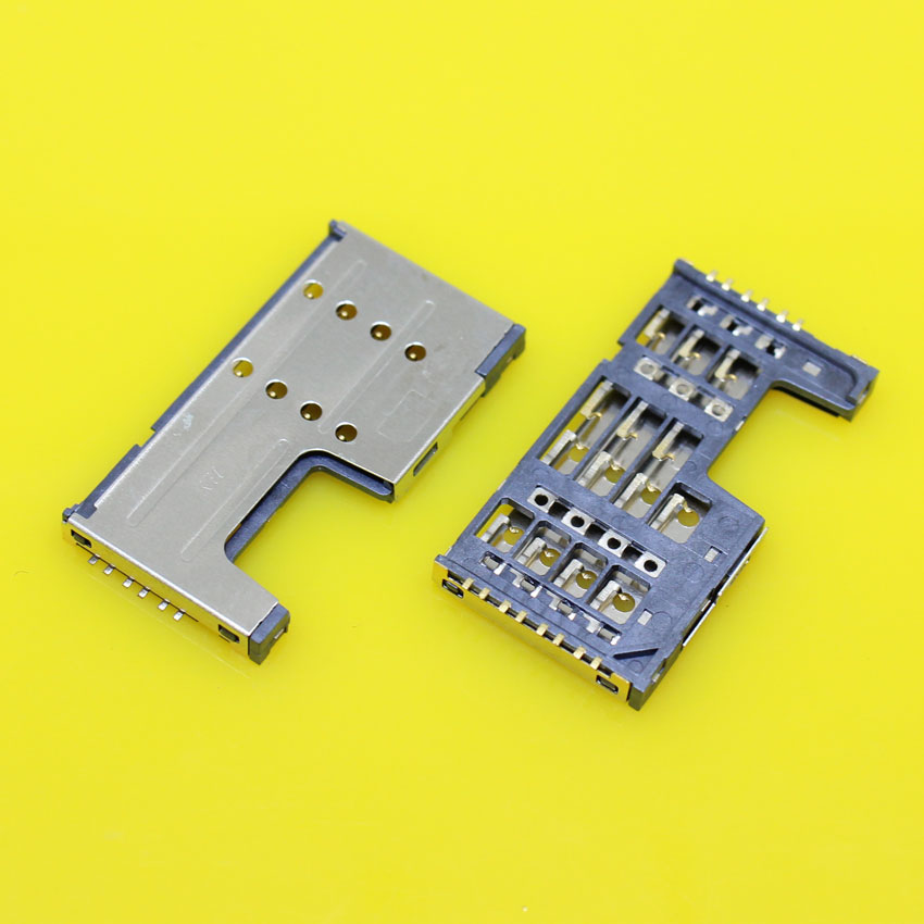 cltgxdd KA-206 Cell phone sim card reader holder slot socket connector for Lenovo A355E A390T A889 A880 A708T for ZTE Q101T