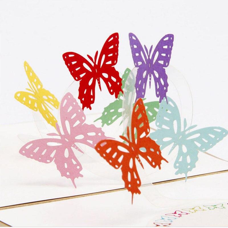 Картинки, объемные открытки бабочки