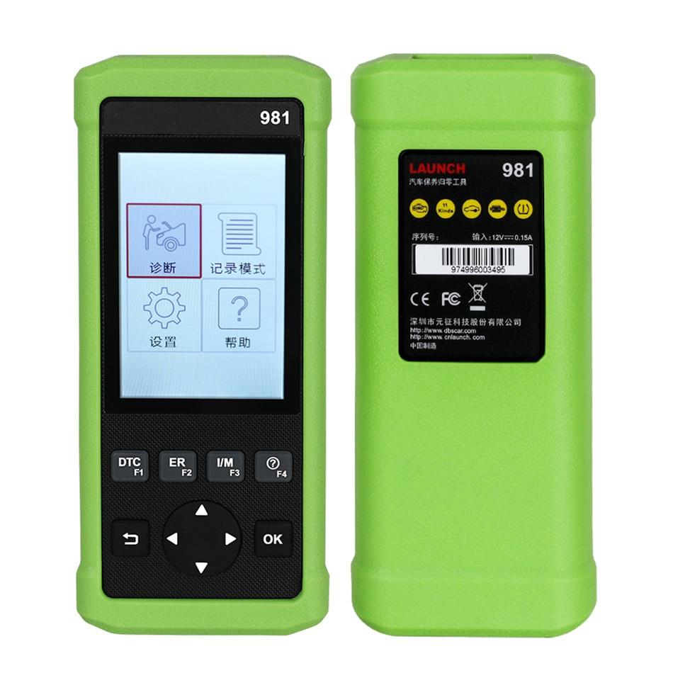 X431 CR981 Car Fault Detector Diagnostic Instrument Maintenance Light Zero Throttle Matching Brake Pad