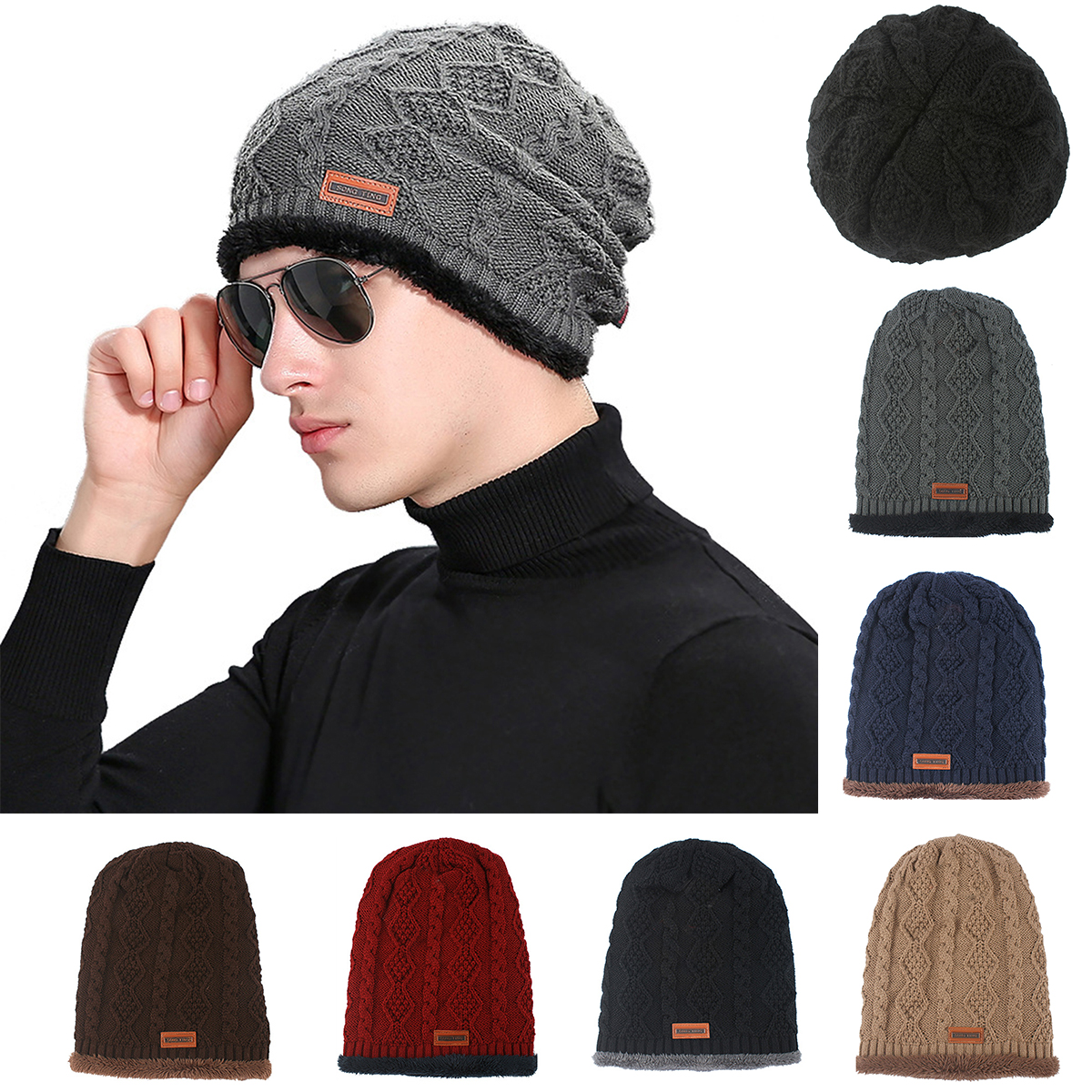 2016 Winter Men Baggy Beanies Knit Hat Caps Skullies Bonnet Winter Hats For Men Women Beanie Fur Warm Baggy Wool Knitted Hat brand skullies winter hats for men bonnet beanies knitted winter hat caps beanie warm baggy cap gorros touca hat 2016 kc010