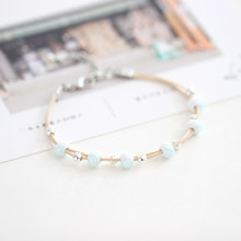 Beautiful Small and simple art fashion women's ceramic bracelet popular jewelry #N017(China)