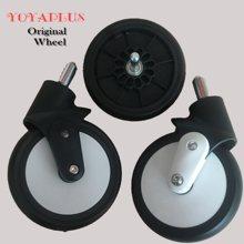 Yoyaplus oryginalny Yoya Plus koło do wózka wymień część przednie koła wózek powrót z tyłu gumowe koła wózek wózek akcesoria tanie tanio CN (pochodzenie) Z tworzywa sztucznego STAINLESS STEEL yoyaplus wheels yoyaplus front back wheels 0-3 M 4-6 M 7-9 M 10-12 M