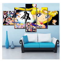 Stickers,Diamond Embroidery,diy,5D,Diamond Painting cross stitch,cartoon Anime Sailor Moon Paintings Mosaic pictures 5 pcs Z724
