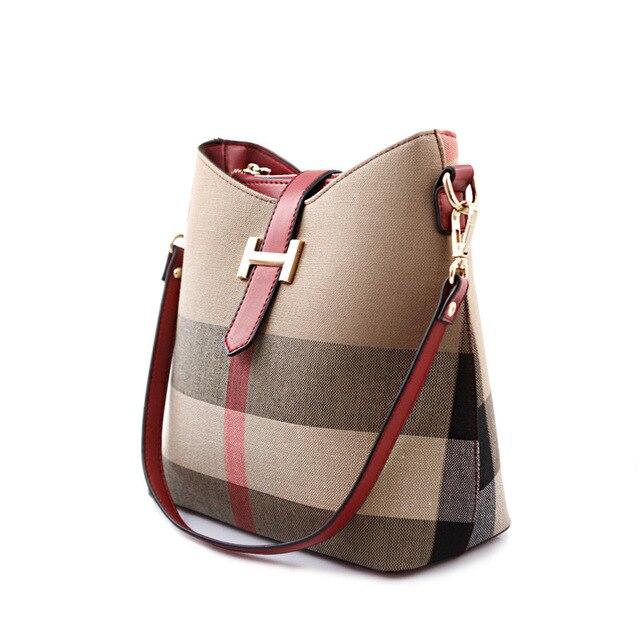 2016 new European and American female British Doses children cloth bag diagonal package shoulder bag bucket bag