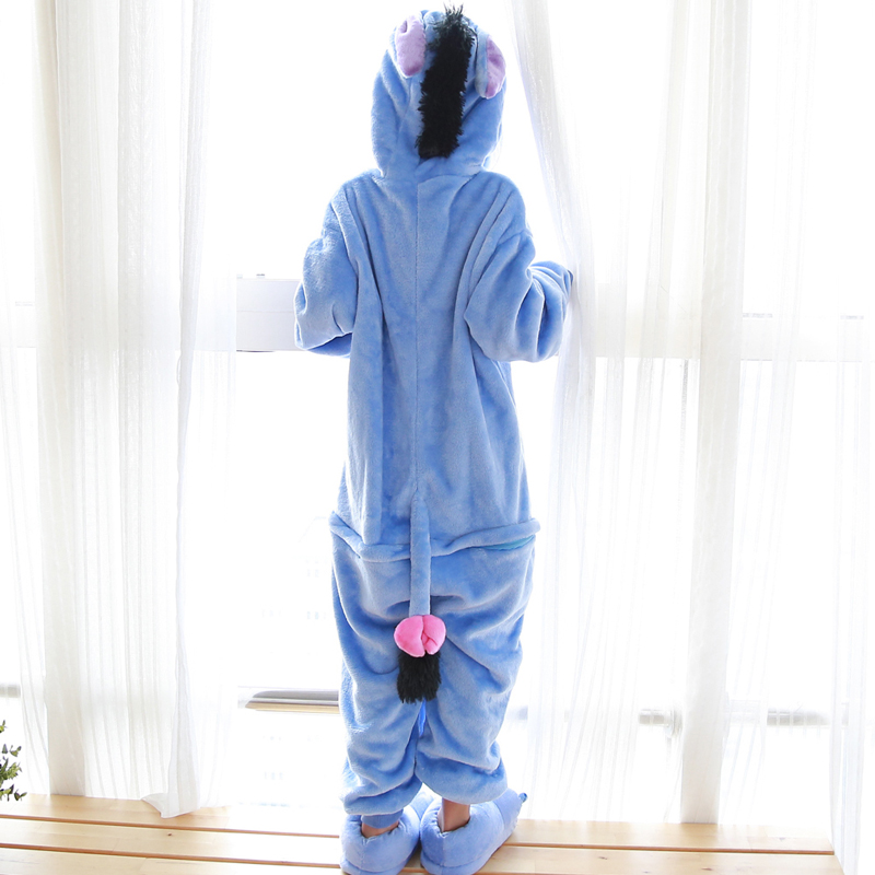 Image 3 - Kids Kigurumi Children pajamas Winter Flannel Animal pajamas one piece Rabbit Totoro Stitch Panda Cosplay baby Boy girl pyjamas    -