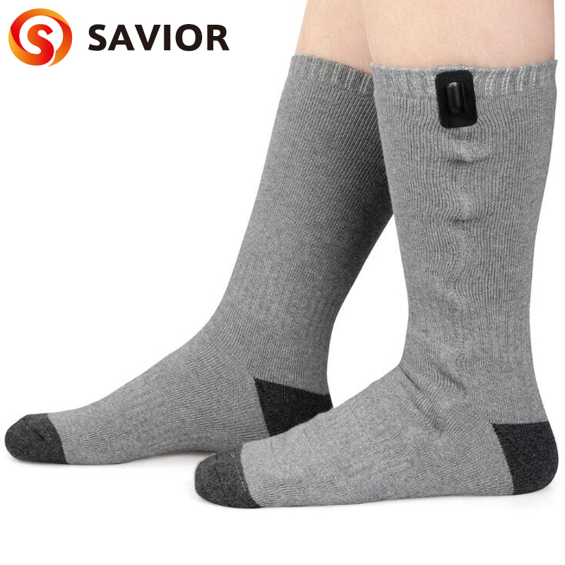 SAVIOR Brand Electric Heating font b Socks b font for Winter Use Men And Women Old