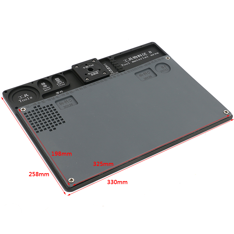 Repair Pannel Multifunction Aluminum Alloy Workbench High Temperature Resistance Working Mat For PCB Soldering Rerpair