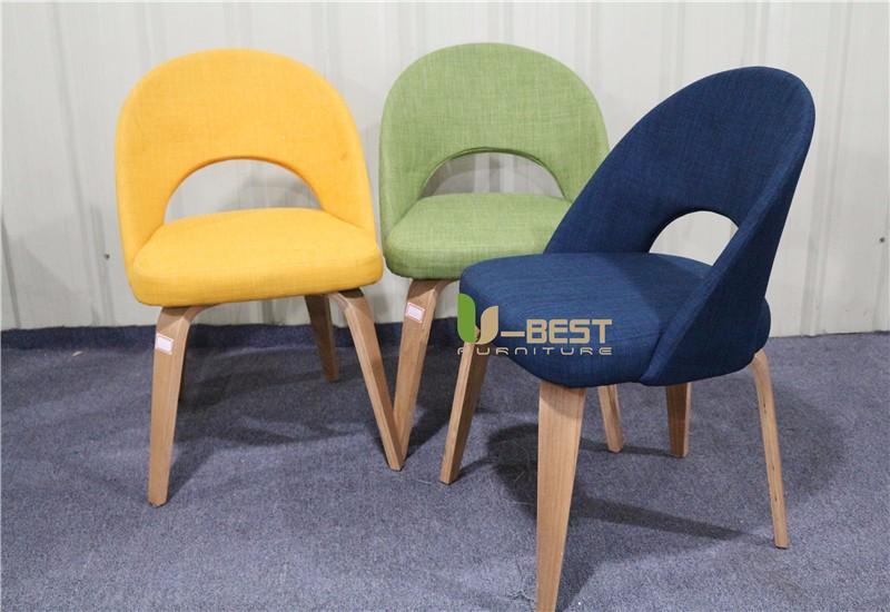Saarinen Executive mid century side dining chair with wood leg (7)