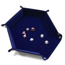 Лоток для кубиков портативный складной Игральный кости скручивающийся поднос для использования в качестве игровых кубиков высокое качество складной лоток для игральных кубиков ящик для хранения игральных кубиков