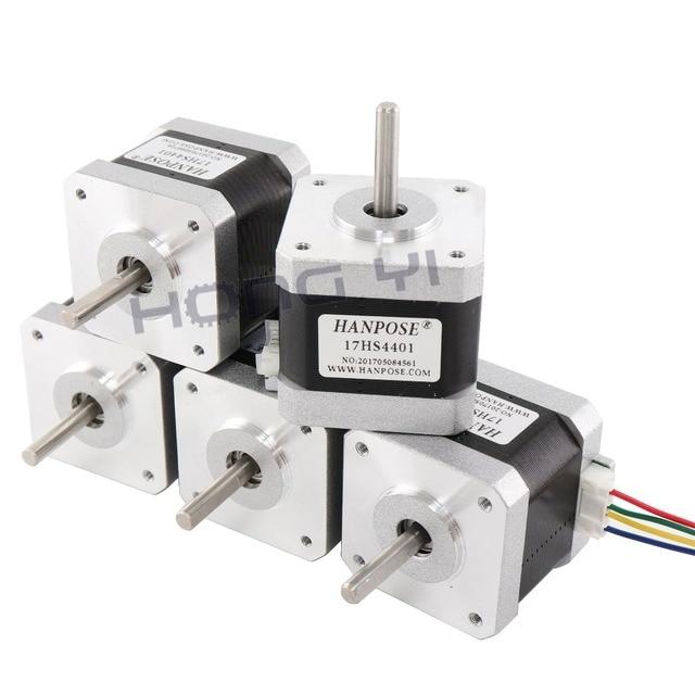 5PCS 17HS4401 4-lead Nema17 Stepper Motor 42 motor 42BYGH  1.7A CE ROSH ISO CNC Laser Grind Foam Plasma Cut 3D printer