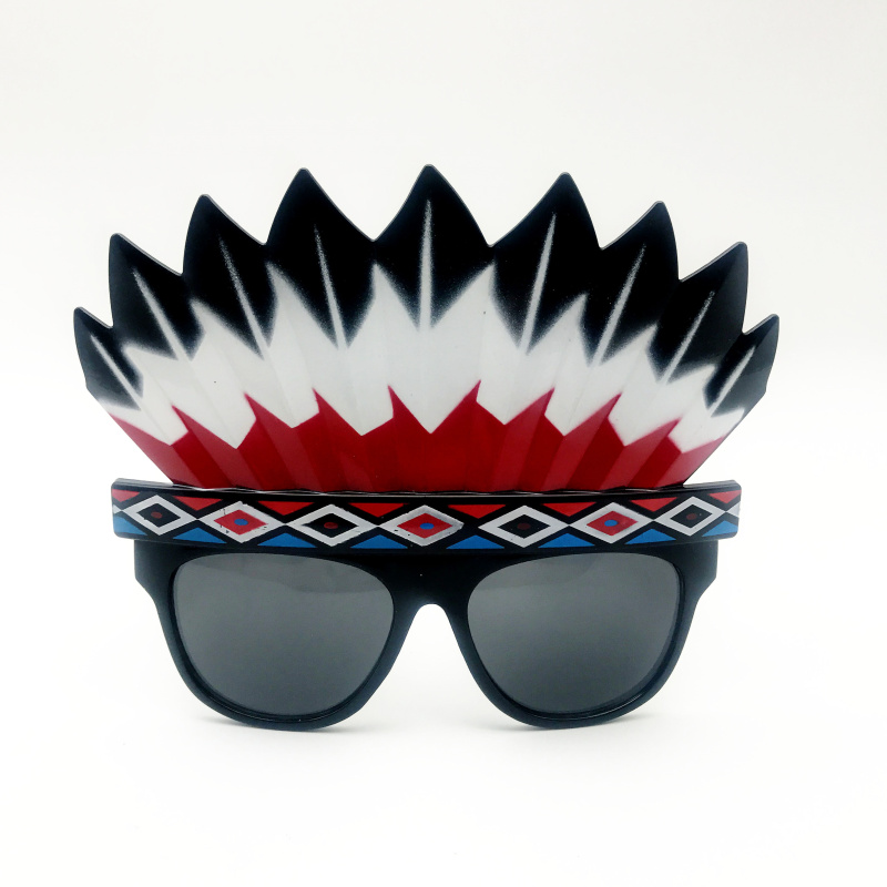 Tribal Style Indian Headdress Glasses Costumes Sunglasses Gift Event Halloween Party Supplies Decoration Party Gifts Party Mask image
