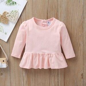 Image 3 - เด็กผู้หญิงฤดูใบไม้ร่วงชุดสีชมพูเสื้อยืดชุด + Romper + กางเกงยาวชุดทารกแรกเกิด 2020 เสื้อผ้าใหม่เกิดSwanทารกเสื้อผ้า