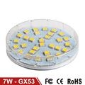 GX53 LED Lamp 7W SMD5050 AC 220V Lamparas LED Bulb Light High Brightness LED Cabinet Lamps GX53 Bombillas LED Lighting 6pcs/lot