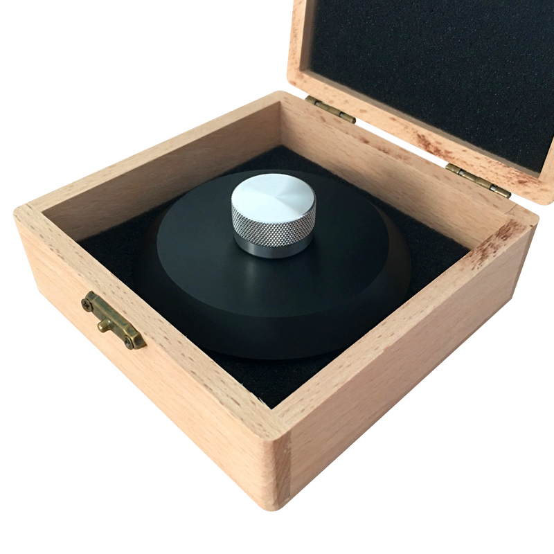 High-End POM Material LP Vinyl Turntables Disc Stabilizer Record Weight/Clamp With Wooden Package Box