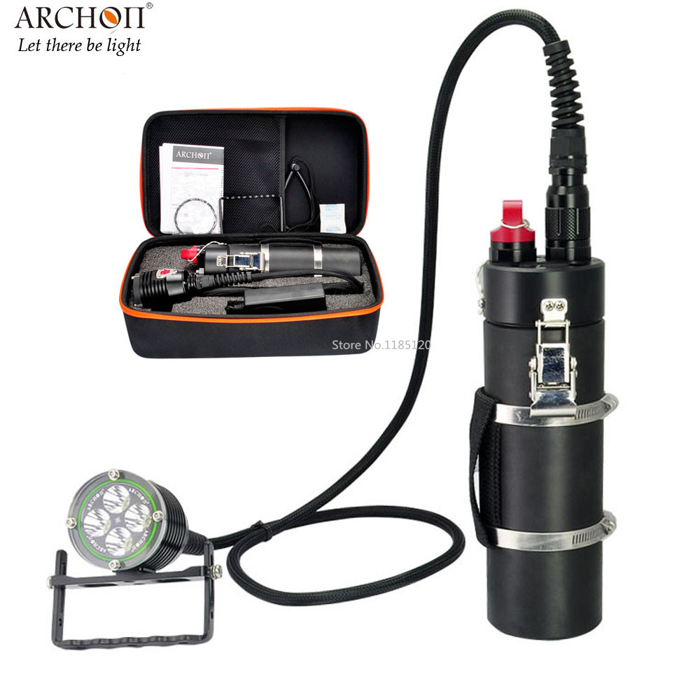 ARCHON DH40 Canister Diving Spotlight CREE XM L2 max 4000 lumen Underwater 200 meter waterproof Photography