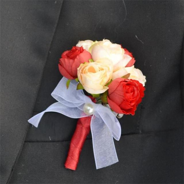 1 pieces lot diy daisy silk flower groom best man boutonniere bride 1 pieces lot diy daisy silk flower groom best man boutonniere bride wrist corsage wedding mightylinksfo Choice Image
