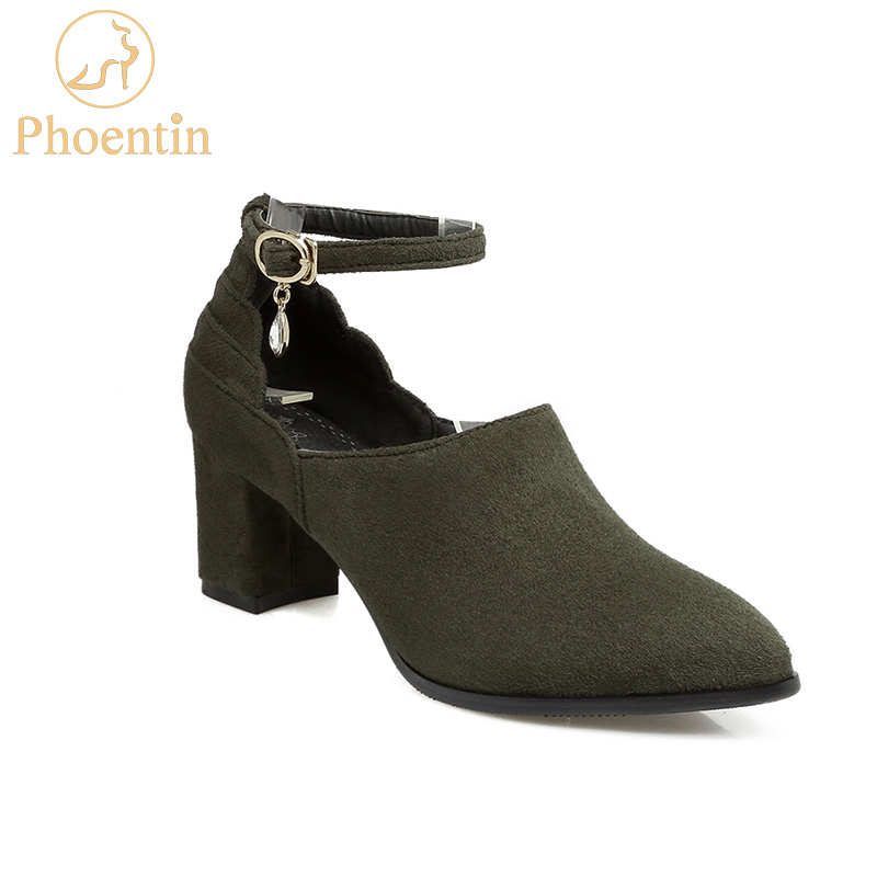 Phoentin sexy buckle dress female shoes crystal pendant peep instep wine red women shoes flock upper high heels 6cm pumps FT161Phoentin sexy buckle dress female shoes crystal pendant peep instep wine red women shoes flock upper high heels 6cm pumps FT161