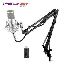 Bm 800 BM800 Condensador Cardioide Micrófono KTV profesional de Audio Profesional Estudio de Grabación Vocal Micrófono KTV Karaoke + Choque de Metal de Montaje