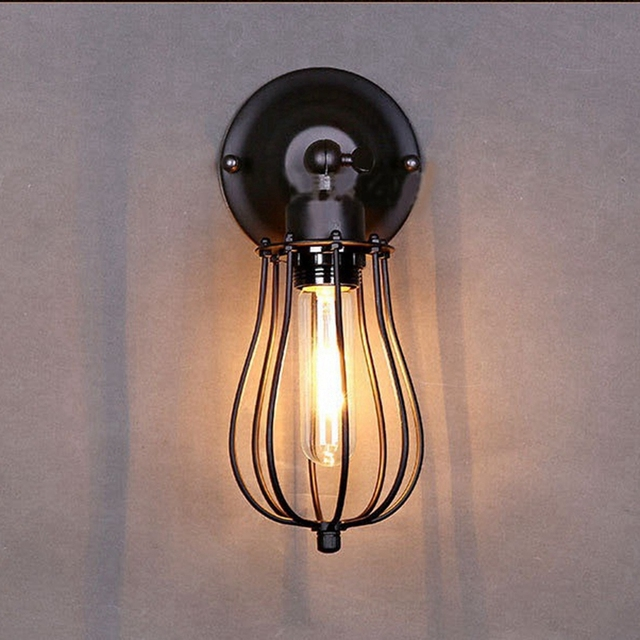 shade pipe cylinder black with sconce metal industrial style in wall p
