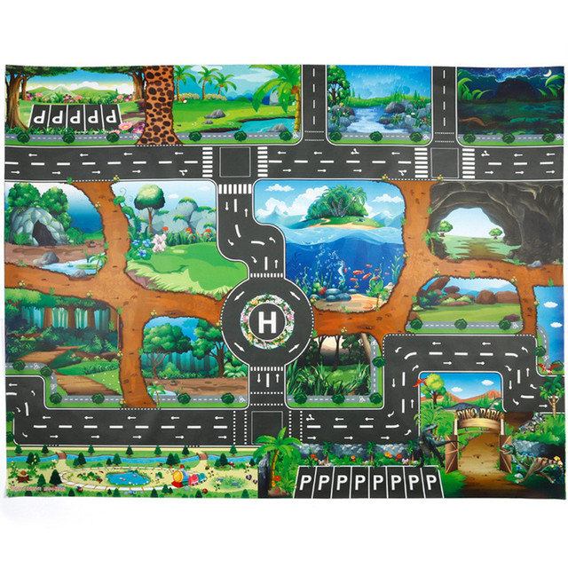 Dinosaur World Juric Park Scene Play Mat Kids Educational Toy ... on