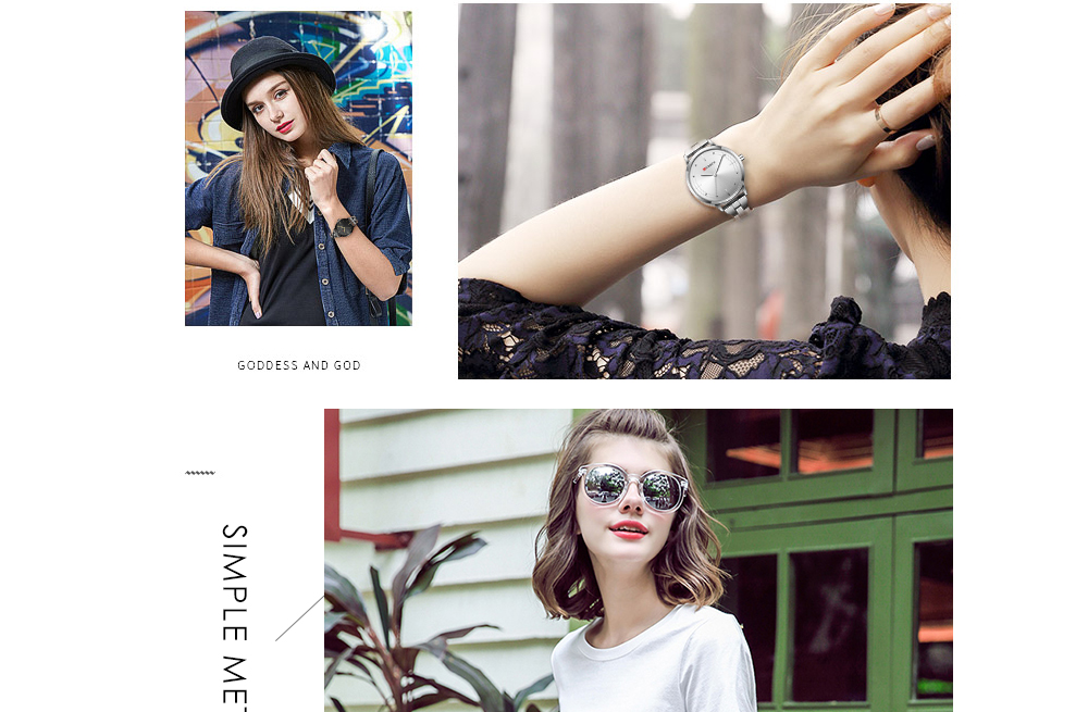 CURREN 9019 Ladies Wrist Watch