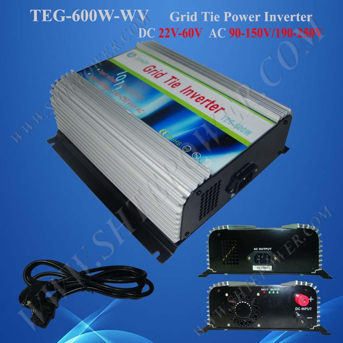 Grid Tie Solar Power Inverter 600W DC 22V-60V to AC 100V Solar Cell System