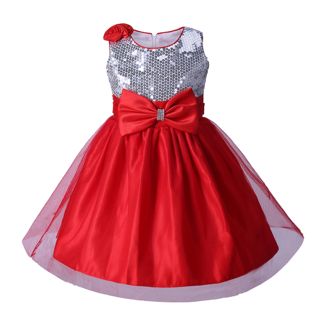 5dfeec978 Cutestyles New Arrival Baby Girl Flower Dress Red Sleeveless ...