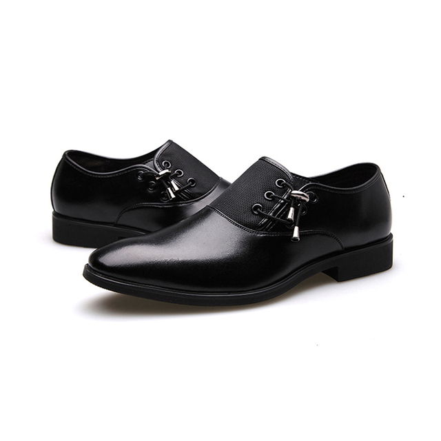 Black Classic Point Toe Oxfords For Men Shoes 2