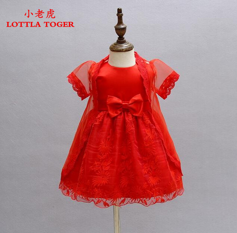 Aliexpress.com : Buy 2Pcs / set Baby Christening Gown Red Tulle ...