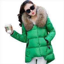 Winter Jacket Women 2016 Fashion new Fur Collar  Big Fur Hood Thicken Winter Coat Women Parkas Women Winter Coats