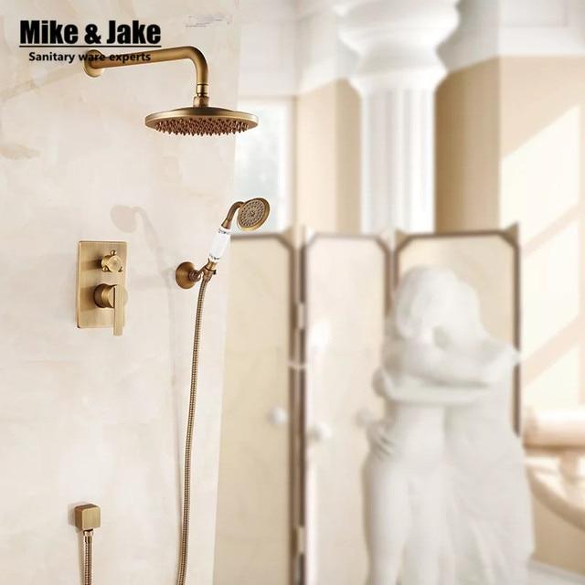 US $85.43 11% OFF|Badezimmer wand verborgen antiken duscharmatur mischer  schwarz ORB badezimmer dusche kit bad mischer set dusche zwei funktion  dusche ...