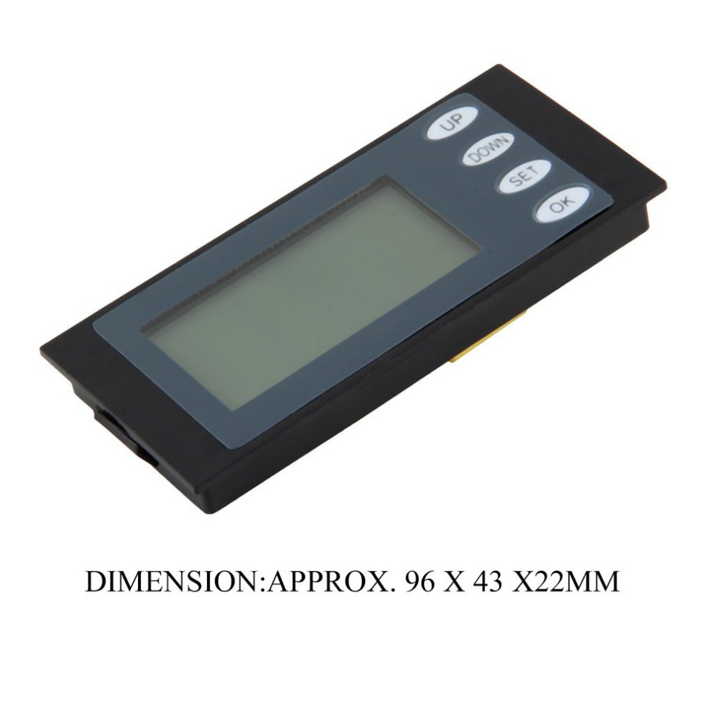 Многофункциональный 100A AC цифровой светодиодный Мощность метр монитор Напряжение кВтч Ватт вольтметр синий Подсветка амперметр с катушкой ...