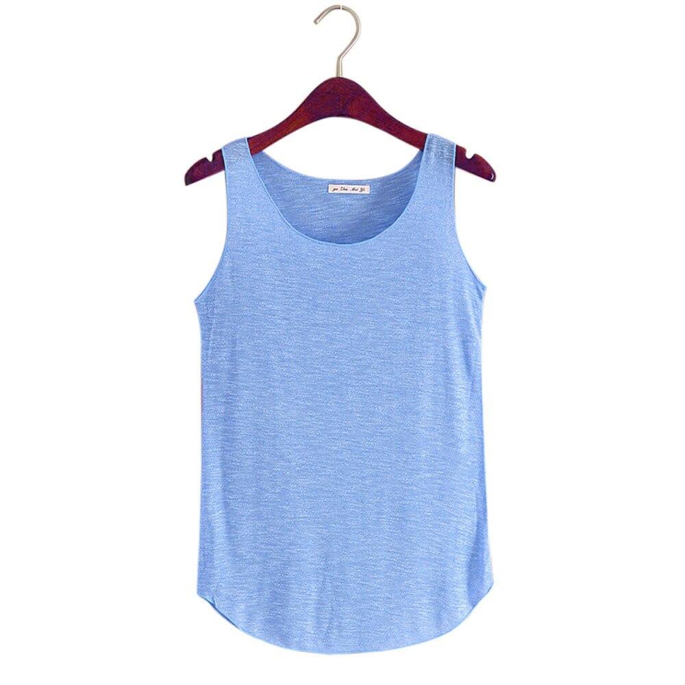 Women Cotton Tank Tops Sleeveless Round Neck Loose T Shirt 2020 Summer Ladies Vest Singlets Camisole Thin Basic Style #T5P