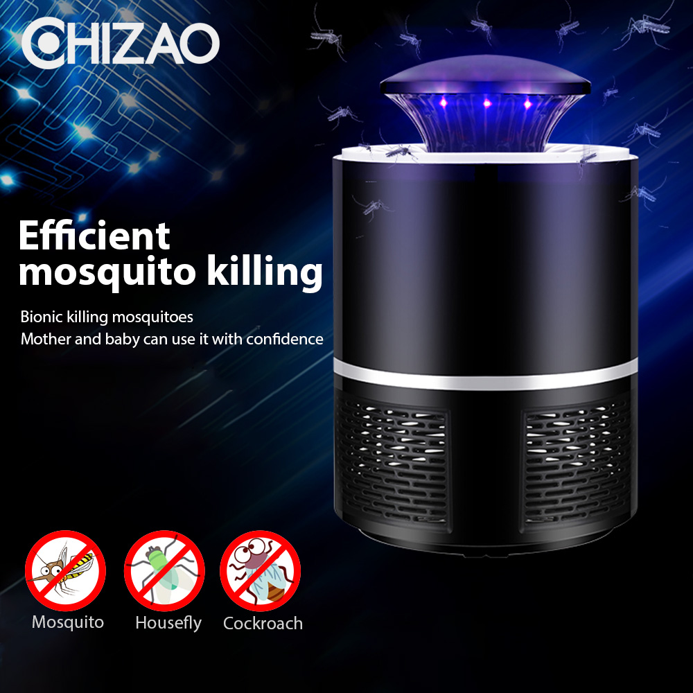 CHIZAO Mosquito Killer USB Electric Mosquito Killer Lamp Photocatalysis Mute Light LED Bug Zapper Insect Trap Radiationless