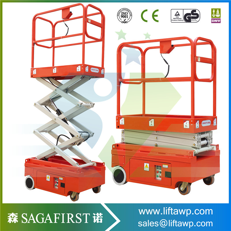 Self Propelled Mini Scissor Lift With 300kg Load Capacity